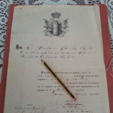 Militaria: DIPLOMA PROPUESTA CABO ARTILLERO, 12 REGIMIENTO MONTADO DE ARTILLERIA DE CAMPAÑA, 22-12-1917. Lote 42699836