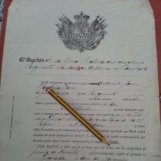 Militaria: DIPLOMA PROPUESTA A CABO ARTILLERO, 12 REGIMIENTO MONTADO DE ARTILLERIA DE CAMPAÑA, 22-12-1917. Lote 42700120
