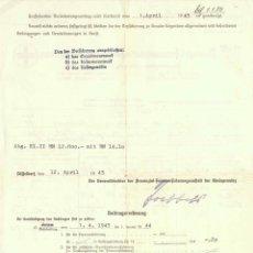 Militaria: DOCUMENTO ORIGINAL DE 1943 FIRMADO POR HANS GOEBBELS. Lote 43287666