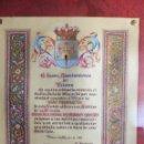 Militaria: PERGAMINO HIJO PREDILECTO TOTANA, MURCIA AL GENERAL DE LA ARMADA M PÁRAMO CANOVAS 1967. Lote 43321568