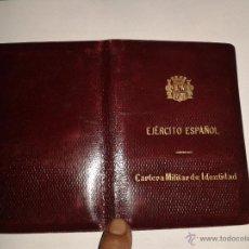 Militaria: CARTERA MILITAR DE IDENTIDAD, EJÉRCITO ESPAÑOL. Lote 43336250