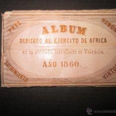 Militaria: ALBUM DEDICADO AL EJERCITO DE AFRICA EN SU ENTRADA TRIUNFANTE EN VALENCIA-AÑO 1860-GENERAL PRIM(V635. Lote 43406360
