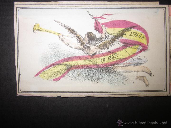 Militaria: ALBUM DEDICADO AL EJERCITO DE AFRICA EN SU ENTRADA TRIUNFANTE EN VALENCIA-AÑO 1860-GENERAL PRIM(V635 - Foto 3 - 43406360