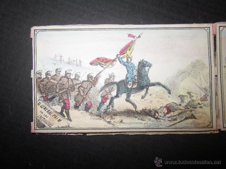 Militaria: ALBUM DEDICADO AL EJERCITO DE AFRICA EN SU ENTRADA TRIUNFANTE EN VALENCIA-AÑO 1860-GENERAL PRIM(V635 - Foto 9 - 43406360