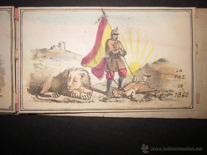 Militaria: ALBUM DEDICADO AL EJERCITO DE AFRICA EN SU ENTRADA TRIUNFANTE EN VALENCIA-AÑO 1860-GENERAL PRIM(V635 - Foto 12 - 43406360