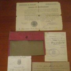 Militaria: 1935 -1953 VALENCIA CASTELLON. CARTERA Y DOCUMENTOS MILITARES DE SOLDADO . Lote 43429073