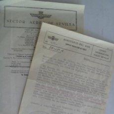 Militaria: LOTE AVIACION : ORDEN DE SERVICIO , 1959 Y ORDEN DEL DIA 1961 . SEVILLA. Lote 43606798