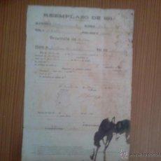 Militaria - Alistamiento reemplazo 1913 - 43742536