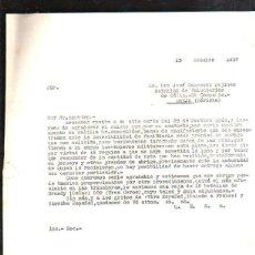 Militaria: OCTUBRE 1937. BATALLON DE VOLUNTARIOS DE CADIZ. 3ª CIA. OBEJO. CORDOBA. GUERRA CIVIL. LEER. Lote 43957813