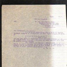 Militaria: ENERO 1939. TENIENTE CORONEL 1º JEFE. REGIMIENTO 23 DIVISION. ESTAFETA 93. GUERRA CIVIL. LEER. Lote 43957916