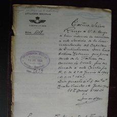 Militaria: 1924 ESCRITO CORONEL PRIMER JEFE DE LA AVIACIÓN MILITAR. Lote 44182809