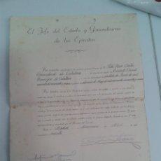 Militaria: NOMBRAMIENTO DE TENIENTE CORONEL HONORIFICO 1960 FIRMA TAMPONADA DE FRANCO. Lote 44259175