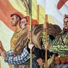 Militaria: HERMOSA LAMINA, PARA ENMARCAR, REQUETES, LOS ABANDERADOS DEL TERCIO DE LACAR, SAENZ DE TEJADA. Lote 44281189