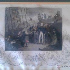 Militaria: 1797 GRABADO RENDICION A NELSON DEL BUQUE SAN JOSE BATALLA CABO SAN VICENTE SANTA CRUZ TENERIFE. Lote 44376891