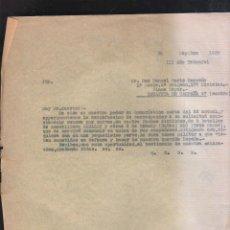 Militaria: 1º MEDIA, 2ª BRIGADA, 17ª DIVISION. PLANA MAYOR. ESTAFET5A DE CAMPAÑA 47. GUERRA CIVIL. 09 / 1938. Lote 44400614