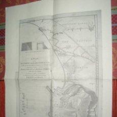 Militaria - 1785-PLANO MAPA ATAQUE BATALLA DE GIBRALTAR. INGLATERRA ESPAÑA FRANCIA. REIMPRESIÓN MODERNA - 44434317