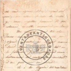 Militaria - LEOPOLDO AUGUSTO DE CUETO, MARQUES DE VALMAR - CARTA DE 1847 CON SU AUTOGRAFO - 44455776