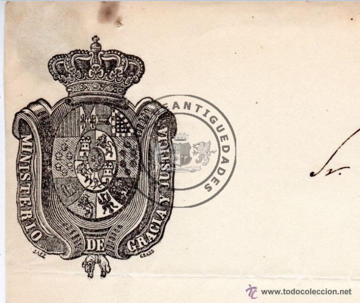 Militaria: PEDRO SABATER, CARTA DEL JEFE POLITICO Y ESPOSO DE GERTRUDIS GOMEZ DE AVENALLEDA, 1845 - Foto 3 - 44461418