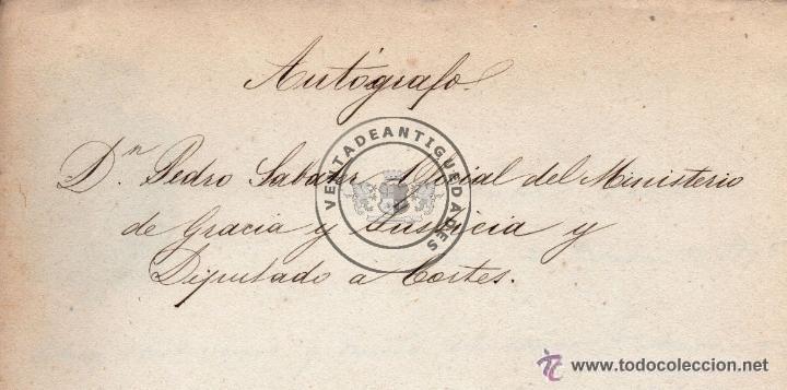 Militaria: PEDRO SABATER, CARTA DEL JEFE POLITICO Y ESPOSO DE GERTRUDIS GOMEZ DE AVENALLEDA, 1845 - Foto 4 - 44461418