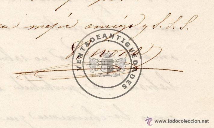 Militaria: JOSE MARIA ALVAREZ DE TOLEDO Y ACUÑA - DUQUE DE BIVONA - CARTA AUTOGRAFO DE 1845 - Foto 2 - 44461429