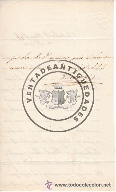 Militaria: JOSE MARIA ALVAREZ DE TOLEDO Y ACUÑA - DUQUE DE BIVONA - CARTA AUTOGRAFO DE 1845 - Foto 3 - 44461429