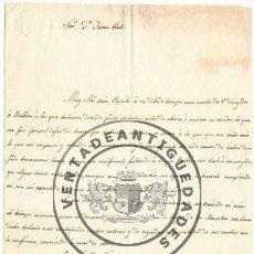 Militaria - LUISA GIBERT - ESPOSA DE TRINIDAD BALBOA - CARTA AUTOGRAFO DE 1839 - 44461451