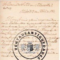 Militaria - FRANCISCO VALIENTE - CARTA DE 1840 CON SU AUTOGRAFO - 44463121