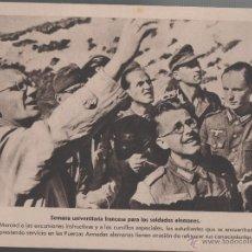 Militaria: C-12-25 II GUERRA MUNDIAL - LAMINAS HISTORICAS - SEMANA UNIVERSITARIA FRANCESA PARA LOS SOLDADOS . Lote 44749636