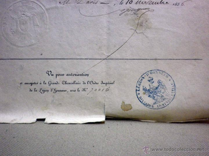 Militaria: CERTIFICADO MEDALLA REINA INGLATERRA, EXPEDICIÓN DE CRIMEA, ZOUARES BATALLA DEL RIO ALMA, PARIS 1856 - Foto 5 - 44869026