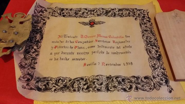DIPLOMA EJERCITO AIRE EPOCA FRANCO, A TENIENTE DE FECHA 7-11-1959, PARECE ESCRITO A MANO, ROKISKI (Militar - Propaganda y Documentos)