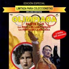 Militaria: OLIMPIADA PARTE I Y II DVD EDICIÓN DE LUJO 2 DVDS PRECINTADA HITLER- RIEFENSTAHL. Lote 200356451