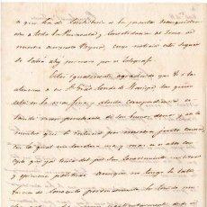 Militaria - GENERAL CONDE ALMILDEZ DE TOLEDO - CARTA DESDE EL FRENTE SOBRE LA 1ª GUERRA CARLISTA 1834 - 45194199