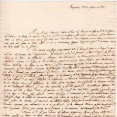 Militaria - GENERAL CONDE ALMILDEZ DE TOLEDO CARTA DESDE EL FRENTE SOBRE LA 1ª GUERRA CARLISTA - 21 DE MAYO 1834 - 45194279