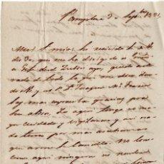 Militaria - GENERAL CONDE ALMILDEZ DE TOLEDO - CARTA DESDE EL FRENTE SOBRE LA 1ª GUERRA CARLISTA 1834 - 45194555
