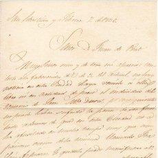 Militaria - GENERAL RAMON REBOLLO - 1ª GUERRA CARLISTA - CARTA AUTOGRAFO DE 1836 - 2C - 45204307