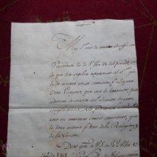 Militaria: IMPORTANTE CARTA ORIGINAL DE LA GUERRA INDEPENDENCIA ESPAÑOLA 13 JUNIO 1808 ALBA DE TORMES / BAYONA. Lote 45216806