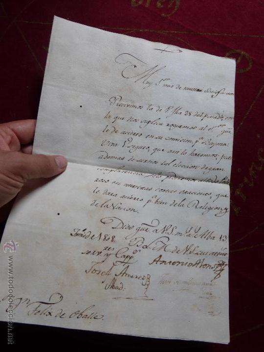 Militaria: IMPORTANTE CARTA ORIGINAL DE LA GUERRA INDEPENDENCIA ESPAÑOLA 13 JUNIO 1808 ALBA DE TORMES / BAYONA - Foto 3 - 45216806