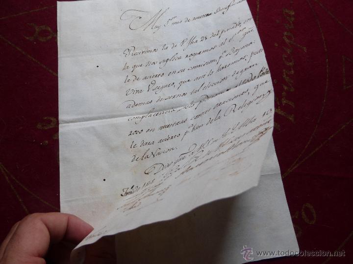 Militaria: IMPORTANTE CARTA ORIGINAL DE LA GUERRA INDEPENDENCIA ESPAÑOLA 13 JUNIO 1808 ALBA DE TORMES / BAYONA - Foto 5 - 45216806
