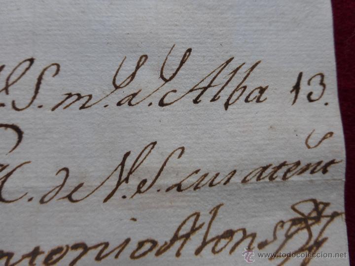 Militaria: IMPORTANTE CARTA ORIGINAL DE LA GUERRA INDEPENDENCIA ESPAÑOLA 13 JUNIO 1808 ALBA DE TORMES / BAYONA - Foto 7 - 45216806