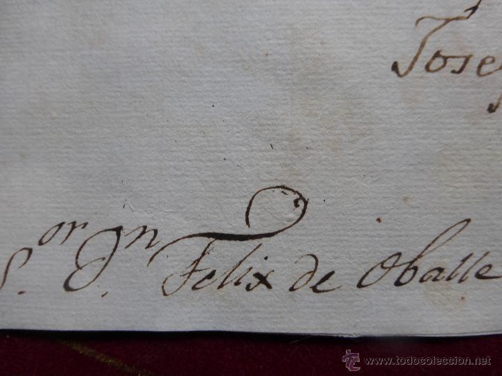 Militaria: IMPORTANTE CARTA ORIGINAL DE LA GUERRA INDEPENDENCIA ESPAÑOLA 13 JUNIO 1808 ALBA DE TORMES / BAYONA - Foto 9 - 45216806