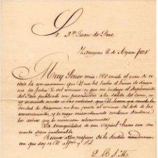 Militaria - GENERAL FELIPE MONTES - CAPITAN GENERAL DE ARAGON - CARTA AUTOGRAFO DE 1835 - 1ª GUERRA CARLISTA - 45268788