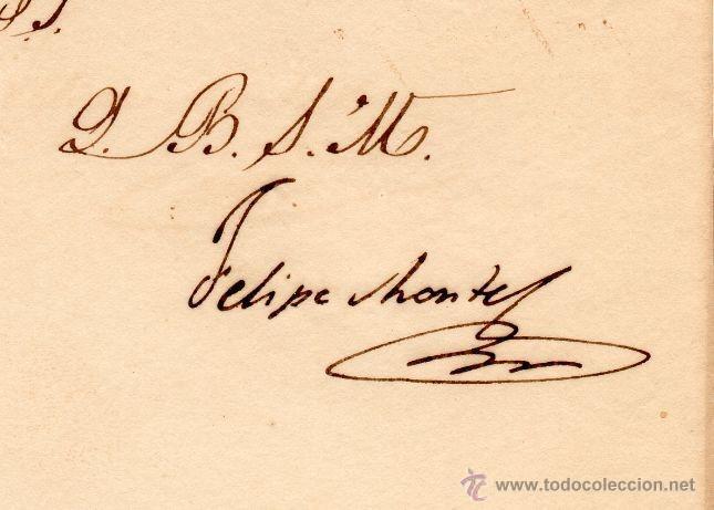 Militaria: GENERAL FELIPE MONTES - CAPITAN GENERAL DE ARAGON - CARTA AUTOGRAFO DE 1835 - 1ª GUERRA CARLISTA - Foto 2 - 45268788
