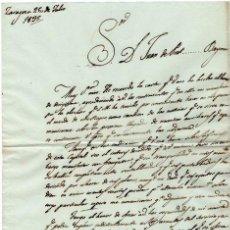 Militaria - GENERAL FELIPE MONTES - CAPITAN GENERAL DE ARAGON - CARTA AUTOGRAFO DE 1835 - 1ª GUERRA CARLISTA - 2 - 45268800