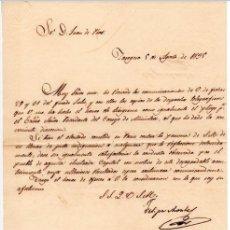Militaria - GENERAL FELIPE MONTES - CAPITAN GENERAL DE ARAGON - CARTA AUTOGRAFO DE 1835 - 1ª GUERRA CARLISTA - 3 - 45268818