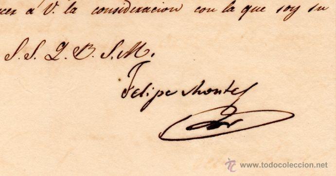 Militaria: GENERAL FELIPE MONTES - CAPITAN GENERAL DE ARAGON - CARTA AUTOGRAFO DE 1835 - 1ª GUERRA CARLISTA - 3 - Foto 2 - 45268818