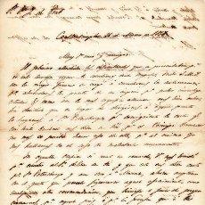 Militaria - GENERAL CRISPIN JIMENEZ DE SANDOVAL - CARTA CON AUTOGRAFO DE 1845 - 45268911