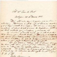Militaria - GENERAL BLAS REQUENA - CARTA AUTOGRAFO DE 1852 - 45268941