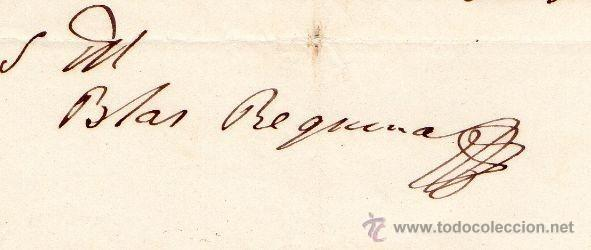 Militaria: GENERAL BLAS REQUENA - CARTA AUTOGRAFO DE 1852 - Foto 2 - 45268941