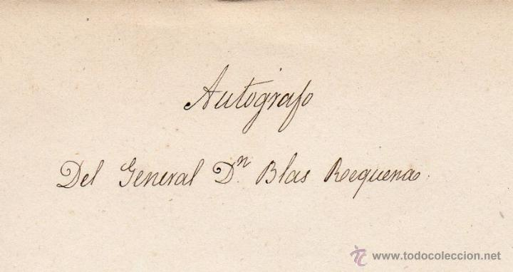 Militaria: GENERAL BLAS REQUENA - CARTA AUTOGRAFO DE 1852 - Foto 3 - 45268941