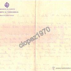 Militaria: PUERTO DE SAN VICENTE,1936, CARTA MEMBRETE INGENIEROS DEL EJERCITO,REGIMIENTO FERROCARRILES. Lote 45324363